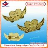 Shinny el oro plateado oro del metal con el corchete de la mariposa para el surtidor de la divisa del metal