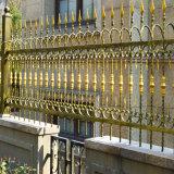 La puerta de hierro forjado de esgrima valla de rejas de metal