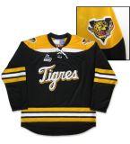Настроить Qmjhl Victoriaville Tigres мужская женщин Детский черный желтый белый хоккей дешевые футболках Nikeid Goalit вырезать высокого качества и футболках Nikeid Custom любое имя