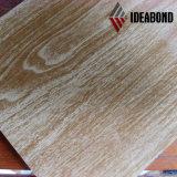 Panneau en aluminium de décoration de sembler du bois à haute brillance
