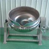 Vapeur d'acier inoxydable/chauffage au gaz électrique/inclinant la bouilloire à cuire revêtue avec l'agitateur (ACE-JCG-063006)