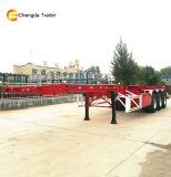 Marca Chengda 3 Eixo 20FT 40FT esqueleto de contentores semi reboque
