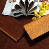Suelo de bambú tejido filamento de Sapelli
