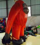膨脹可能で巨大なゴリラの製品の赤いゴリラのモデル広告