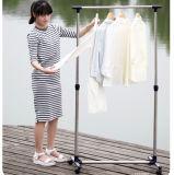 Garde-robe télescopique à simple tige en acier inoxydable