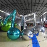Esfera inflável atrativa inflável do espelho das notas musicais para a mostra do partido