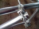 La gota forjó el tipo británico del acoplador del eslabón giratorio del andamio para las instalaciones de tuberías
