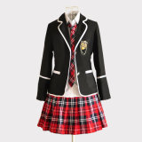 Pannello esterno di usura del banco delle ragazze dell'OEM e uniforme scolastico della giacca sportiva