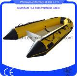 barco de alumínio da casca de 3.6m V com dois assentos da madeira compensada