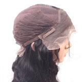 Natureza de cabelo indiano humano Remy Virgem Onda do corpo das mulheres Lace Peruca Dianteiro