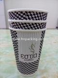Taza de papel modificada para requisitos particulares de la ondulación 12oz, taza caliente (YH-L168)