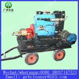 Motor diesel limpiador de alta presión de la máquina línea de alcantarillado Equipo de Limpieza