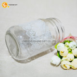 Vaso di muratore di vetro con il coperchio per la decorazione di natale di cerimonia nuziale