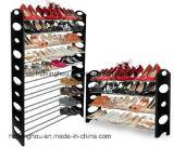 стеллаж для выставки товаров 10-Tier Stackable и регулируемый ботинок с черным цветом