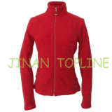 Mulheres Elastic Spandex Micro Fleece Fabric Jacket Sports Wear