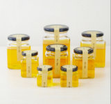 OEM cubique de gros pots de miel Jam Jar de verre avec couvercle 50ml 80ml 100ml 200ml 280ml 380 ml 500ml 730ml