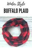 El búfalo de la Navidad de rojo y negro infinito Plaid Bufandas regalos