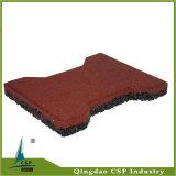 mattonelle di gomma dell'osso di cane di colore rosso di 25mm per il campo da giuoco