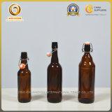 Bernsteinfarbige Bierflasche des China-Kippen-Schutzkappen-Glas-750ml (114)