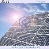 Vidrio solar templado de hierro bajo con acabado texturizado Matt / Matt