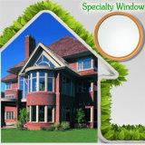 Окно для виллы китайским поставщиком, окно специальности алюминиевое деревянное верхней части свода специальности с астетической разделенной светлой решеткой