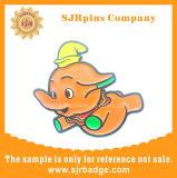 Pino de lapela esmalte macio, emblema do Elefante, presente de promoção, Badge