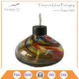 Lampada di olio di vetro di salto del cherosene, serbatoio dell'olio di vetro con lo stoppino