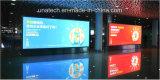 Пленка установленная стеной освещенная контржурным светом знамени выставки авиапорта большой СИД рекламируя коробку индикации светлую