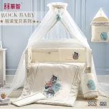 綿の赤ん坊の養樹園部屋のキルトセット