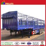 Semi Aanhangwagen van de Staak van de Lading van de Vrachtwagen van de Omheining van de Staaf van het staal de Zij Bulk