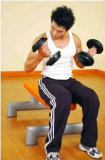Fitness Banco plana del levantamiento de pesas con mancuernas Press Utilidad ABS Xh48