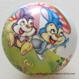 9インチ多彩なPVC膨脹可能なおもちゃの球の完全な印刷の球