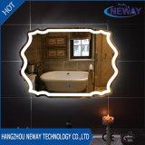 New Sliver Makeup Miroir intelligent de salle de bains à LED, miroir mural biseauté éclairé, miroir de verre