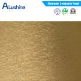 El panel compuesto de aluminio aplicado con brocha/ACP para la etiqueta engomada al aire libre de la pared del mosaico