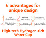 고품질 LED 빛을%s 가진 수소 부유한 물 제작자 추적자 병
