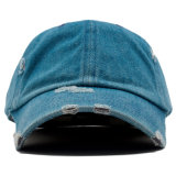 2017の卸売の習慣によって苦しめられるデニムの刺繍の人のお父さんは帽子をキャップする