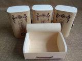 Коробка упаковки чая хлеба расшивы березы цвета квадратной формы естественная деревянная