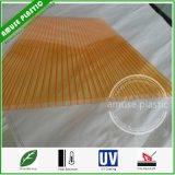 Het uv-met een laag bedekte twee-Laag Bayer Holle Blad Van uitstekende kwaliteit van het Dakwerk van het Polycarbonaat van het Blad