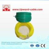 fio elétrico isolado PVC do condutor de cobre de 1.5sqmm 450/750V
