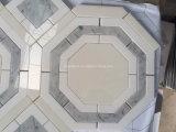 Tuile de marbre Waterjet de vente en gros de mur de salle de bains