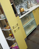 Mobília enfrentada acrílica popular nova da cozinha (zv-027)