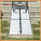 Léger en aluminium en fauteuil roulant Rampe de chargement de pliage