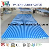 Winsroof 4 couches ASA PVC Toiture Sheet Blue and White Color