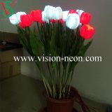 Simulative LED 꽃 빛을 Wedding 고품질 인공적인 로즈