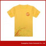T-shirt promotionnel estampé par coutume jaune de la couleur des hommes (R25)