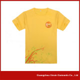 Camiseta promocional impresa aduana amarilla del color de los hombres (R25)