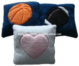 Patchwork Sherpa Coussin carré