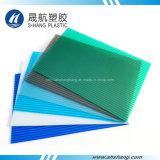 UV vert recouvert de plastique polycarbonate Hollow panneau en Lexan