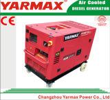 YarmaxのセリウムISO9001公認5kVA 5.5kVAの無声ディーゼル発電機セットのディーゼル機関Genset