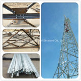 D'usine tour en acier de télécommunications de trellis de cornière triangulaire directement
